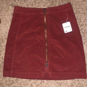 Free People Modern Femme ZIP Skirt